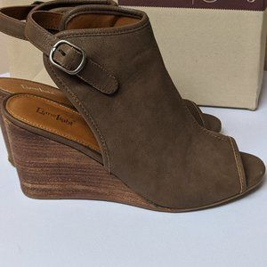 LIMELIGHT WEDGE SANDALS BROWN WOMENS SIZE 9